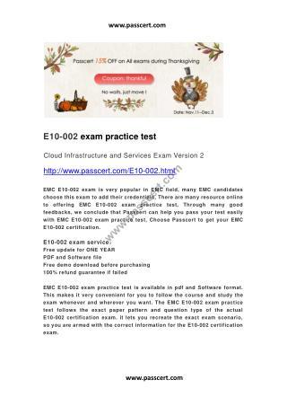 EMC E10-002 practice test