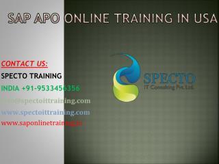 sap apo online training in sinagpore