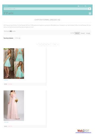 Chiffon Formal Dresses NZ