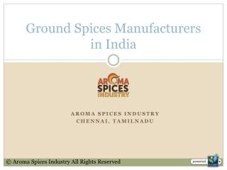 Ground Spices Manufacturers