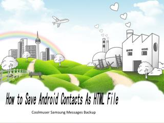 How to Save Android Contacts As HTML File