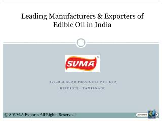 Edible Oil Manufacturers in India