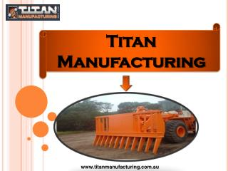 Titan Manufacturing Research and Development Department