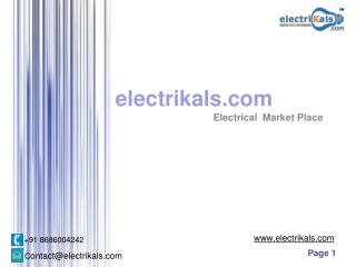Buy Almonard Electrical Products Online at Best prices in India | Electrikals.com