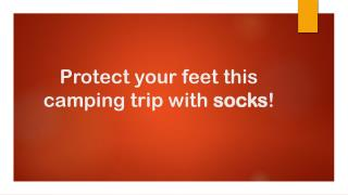Protect your feet this camping trip with socks in Singapore