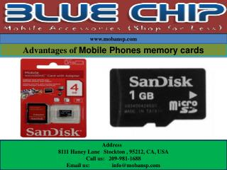 Advantages of Mobile Phones memory cards