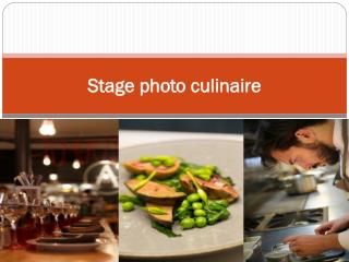 Stage photo culinaire