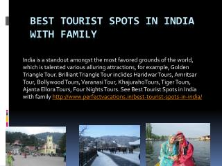 Best tourist spots in india with family