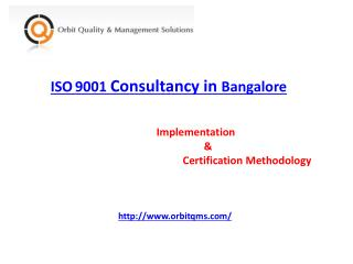 ISO 9001 Consultants in Bangalore