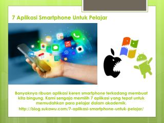 7 Aplikasi Smartphone Untuk Pelajar