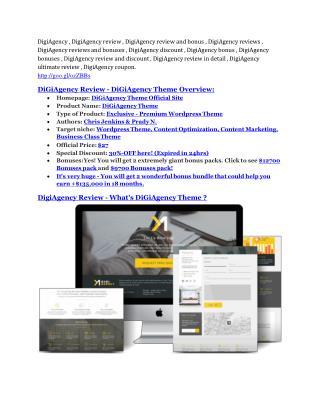 DigiAgency Review and GIANT $12700 Bonus-80% Discount