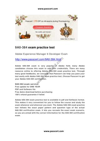 Adobe 9A0-384 practice test