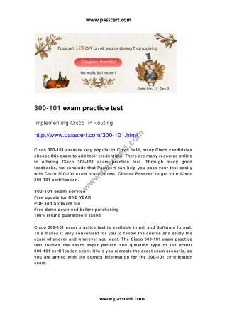 Cisco 300-101 practice test