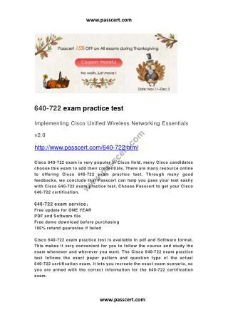 Cisco 640-722 practice test
