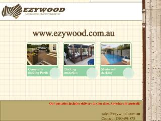 Hardwood decking boards by www.ezywood.com.au