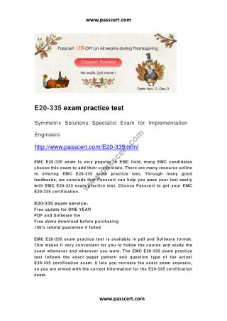 EMC E20-335 practice test