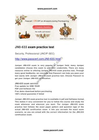 Juniper JN0-633 practice test