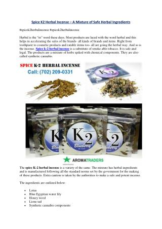 Spice K-2 Herbal Incense for Sale