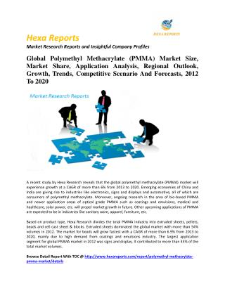 Global Polymethyl Methacrylate (PMMA) Market Size, Market Share, Application Analysis, Regional Outlook, Growth, Trends,