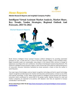 Intelligent Virtual Assistant Market Analysis, Market Share, Key Trends, Vendor Strategies, Regional Outlook And Forecas