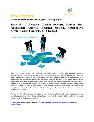 Rare Earth Elements Market Analysis, Market Size, Application Analysis, Regional Outlook, Competitive Strategies And For