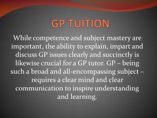 gp tuition singapore
