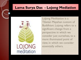 Lama Surya Das - Lojong Mediation