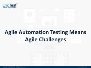 Thought Leadership Webinar: Agile Automation Testing Means Agile Challenges