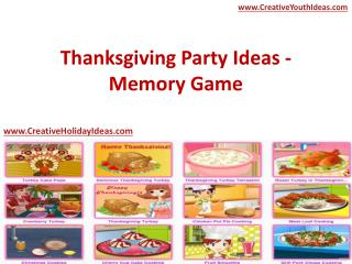 Thanksgiving Party Ideas - Memory Game