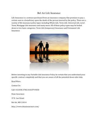 Bel Air Life Insurance