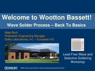 Welcome to Wootton Bassett     Wave Solder Process   Back To Basics