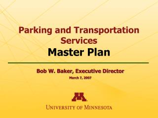 Parking and Transportation Services Master Plan