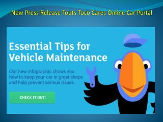 New Press Release Touts Toco Cares Online Car Portal