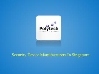Security Device Manufacturers