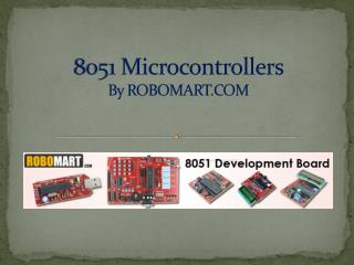 8051 Microcontroller l Robomart
