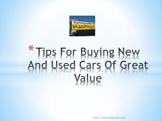 Tips ForBuying New And Used Cars Of Great Value