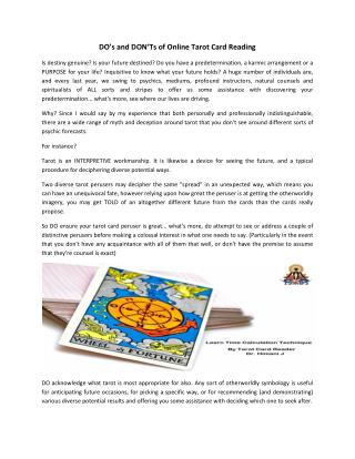 Learn Tarot Card Reading Courses | Time Calculation Technique