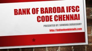 ifsc code bank of baroda