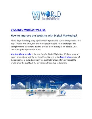 Website Development Company in Noida India-visainfoworld.com