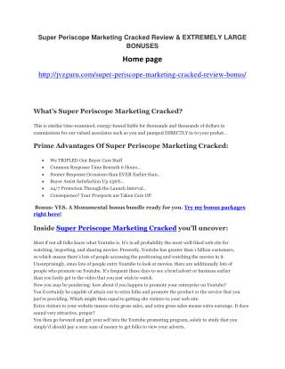 Super Periscope Marketing Cracked Review