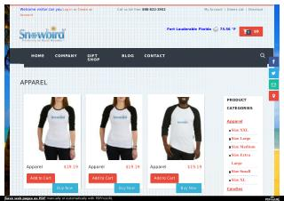 Snowbirdcollection.com - Apparel online store in Florida