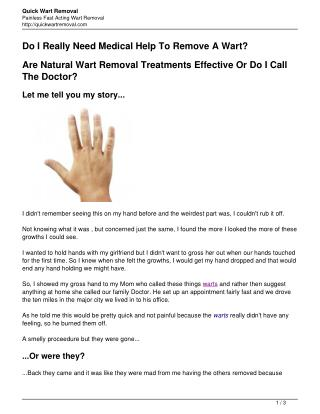 Nifty Home Treatments For Warts