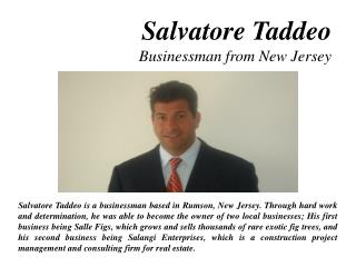 Salvatore Taddeo - Businessman from New Jersey
