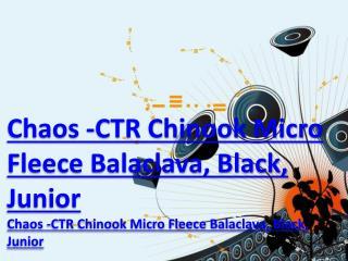 Chaos -CTR Chinook Micro Fleece Balaclava, Black, Junior
