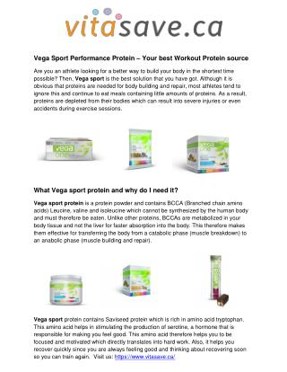 Vega Sport Performance Protein – Your best Workout Protein source