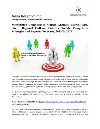 Sterilization Technologies Market Analysis, Market Size, Share, Regional Outlook, Industry Trends, Competitive Strategie
