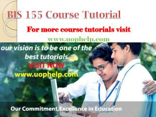 BIS 155  Academic Coach/uophelp