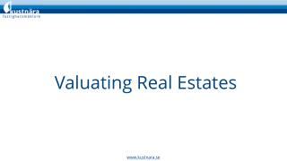 Valuation Before Investment in Real Estate