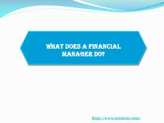 What does a Financial Manager