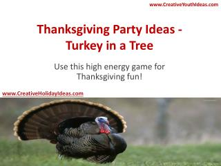 Thanksgiving Party Ideas - Turkey in a Tree